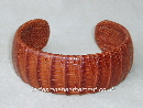 Mens Lizard Leather Cuff Bracelet