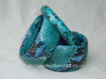 Hand Painted Python Snakeskin Bangles